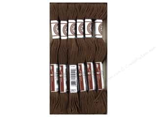 DMC Soft Matte Cotton Embroidery Thread 10.9 yd. Dark Coffee Brown (12 skeins)