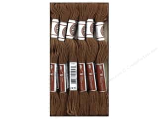 DMC Soft Matte Cotton Embroidery Thread 10.9 yd. Medium Brown (12 skeins)
