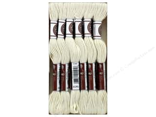 yarn & needlework: DMC Matte Cotton Embroidery Thread Ecru (12 skeins)