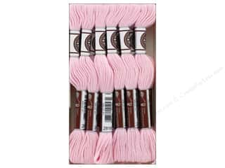 DMC Matte Cotton Embroidery Thread Baby Pink (12 skeins)