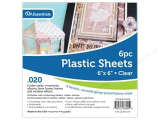 Paper Accents Plastic Sheet 6 x 6 in. .02 in. Clear 6 pc.