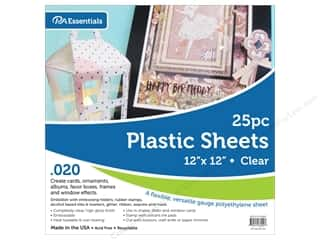 Paper Accents Plastic Sheet 12 x 12 in. Clear .02 in. (25 sheets)