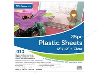 scrapbooking & paper crafts: Paper Accents Plastic Sheet 12 x 12 in. .01 in. Clear 25 pc.