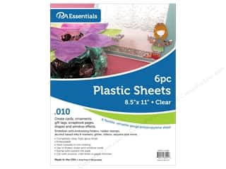 Paper Accents Plastic Sheet 8 1/2 x 11 in. .01 in. Clear 6 pc.
