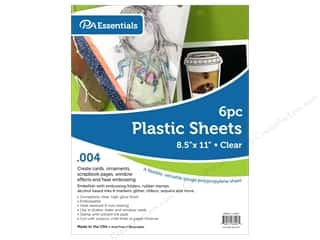 scrapbooking & paper crafts: Paper Accents Plastic Sheet 8 1/2 x 11 in. .004 in. Clear 6 pc.