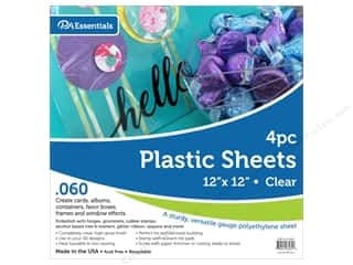scrapbooking & paper crafts: Paper Accents Plastic Sheet 12 x 12 in. .06 in. Clear 4 pc.