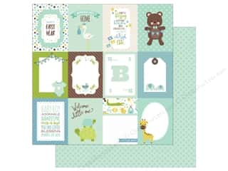 Echo Park Collection Sweet Baby Boy Paper 12 in. x 12 in.,  3 in. x 4 in. Journaling Cards (25 pieces)