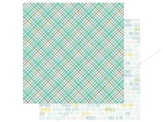 Echo Park Collection Sweet Baby Boy Paper  12 in. x 12 in. Sweet Boy Plaid (25 pieces)