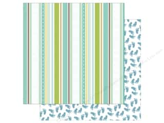 Echo Park Collection Sweet Baby Boy Paper  12 in. x 12 in. Baby Boy Ribbons (25 pieces)
