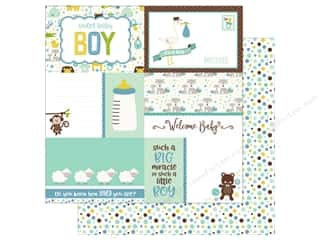 Echo Park Collection Sweet Baby Boy Paper  12 in. x 12 in. Journaling Cards (25 pieces)