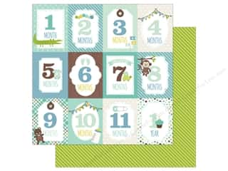 Echo Park Collection Sweet Baby Boy Paper  12 in. x 12 in. Month Cards (25 pieces)