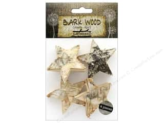 craft & hobbies: BCI Crafts Bark Shapes Stars 4 pc