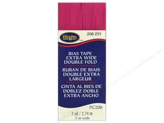Wrights Extra Wide Double Fold Bias Tape - Hot Magenta 3 yd.