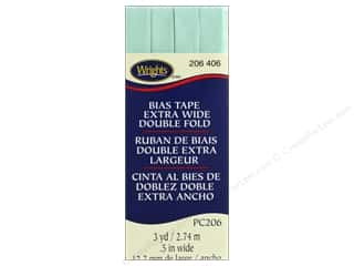 Wrights Extra Wide Double Fold Bias Tape 3 yd. Cool Cucumber