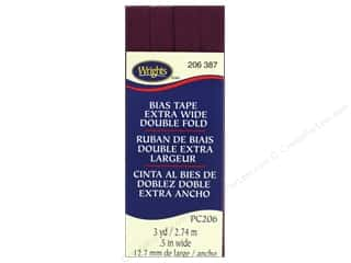 Wrights Extra Wide Double Fold Bias Tape 3 yd. Geranium