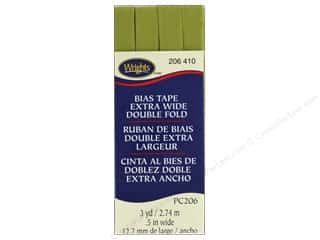 Wrights Extra Wide Double Fold Bias Tape 3 yd. Dill Pickle