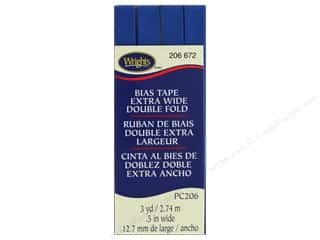 Wrights Extra Wide Double Fold Bias Tape 3 yd. Snorkel Blue