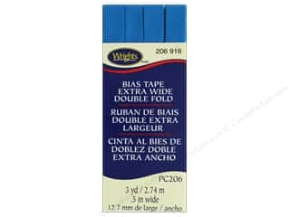Wrights Extra Wide Double Fold Bias Tape 3 yd. Teal