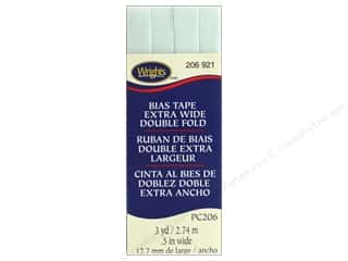 Wrights Extra Wide Double Fold Bias Tape 3 yd. Ice Mint