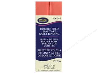 Wrights Double Fold Quilt Binding 3 yd. Coral Sea