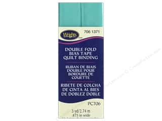 Wrights Double Fold Quilt Binding - Aquamarine 2 3 yd.