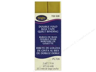 Wrights Double Fold Quilt Binding 3 yd. Mustard