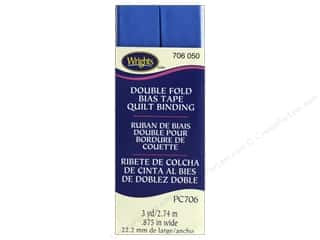 sewing & quilting: Wrights Quilt Binding Double Fold 3 yd Royal