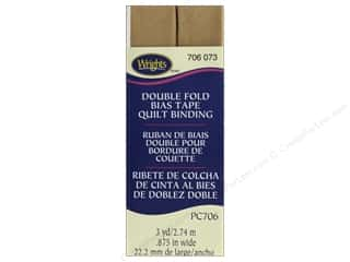 Wrights Quilt Binding Double Fold 3 yd Tan