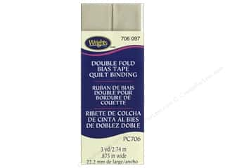 sewing & quilting: Wrights Quilt Binding Double Fold 3 yd Khaki