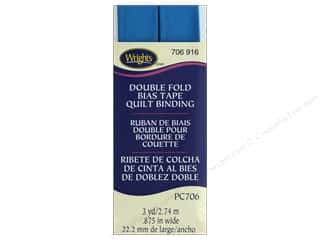 Wrights Quilt Binding Double Fold 3 yd Teal