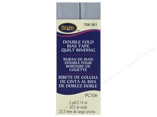 sewing & quilting: Wrights Quilt Binding Double Fold 3 yd Lilac Gray