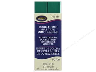 sewing & quilting: Wrights Quilt Binding Double Fold 3 yd Irish Clover