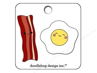 beading & jewelry making supplies: Doodlebug So Punny Collectible Pin Bacon & Eggs