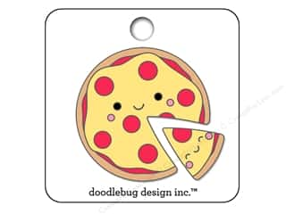 beading & jewelry making supplies: Doodlebug So Punny Collectible Pin Pizza Pals