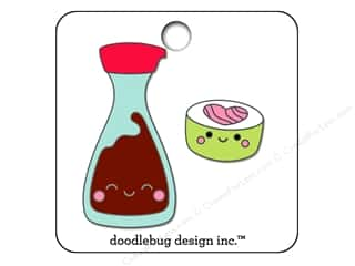 beading & jewelry making supplies: Doodlebug So Punny Collectible Pin Sushi