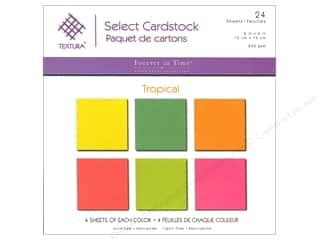 scrapbooking & paper crafts: Multicraft Cardstock 6 in. x 6 in. Textura Select Pack Tropical