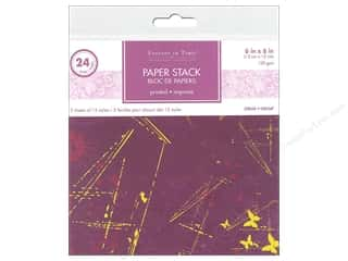 patterned paper: Multicraft Stack Pad 6 in. x 6 in. Viola 24 pc