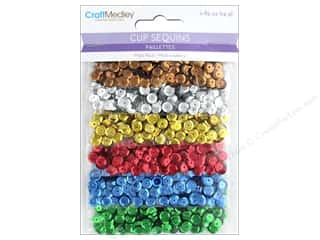 Multicraft Cup Sequins 6mm Dazzling Metallics 24gm