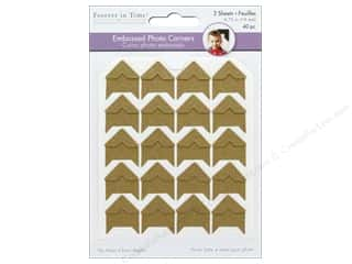 "glues, adhesives & tapes: Mulitcraft  Photo Corner .75"" Cardstock Kraft/Natural 40 pc"