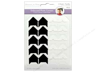 Mulitcraft  Photo Corner .75 in. Cardstock Black/White 40 pc