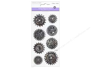 Multicraft Sticker 3D Embossed Vintage Elegance Cogs