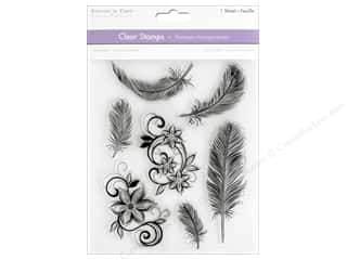 stamps: Multicraft Stamp Clear Feathers & Flowers