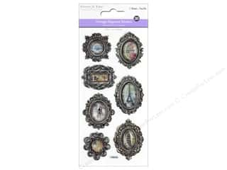 Multicraft Sticker 3D Embossed Vintage Elegance Charms