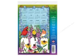 yarn & needlework: Design Works Kit Sequin Calendar 2019 Birds On Fence