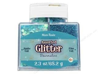 Sulyn Glitter 2.3 oz Stack Jar Assorted Tourmaline