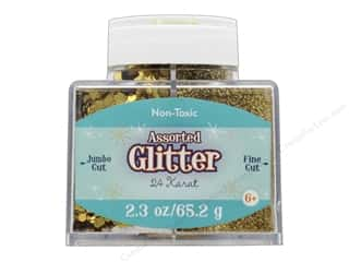 Sulyn Glitter 2.3oz Stack Jar Assorted 24 Karat