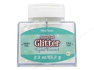 craft & hobbies: Sulyn Glitter 2.3 oz Stack Jar Assorted Crystal Diamond
