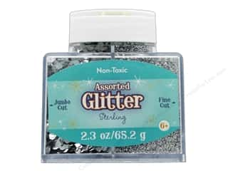 Sulyn Glitter 2.3 oz Stack Jar Assorted Sterling