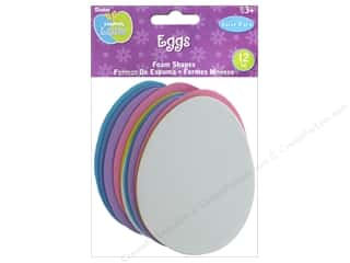 Darice Foamies Base Easter Eggs Value Pack 12 pc