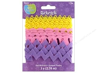 craft & hobbies: Darice Felties Rick Rack Embellishments